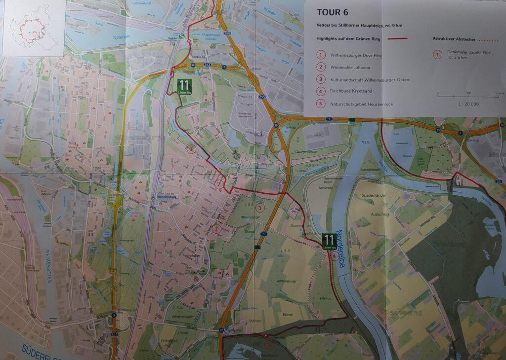 Karte Grüner Ring Hamburg Tour 6