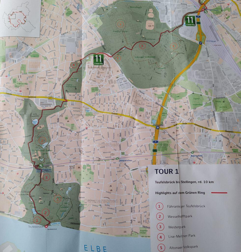 Grüner Ring Hamburg Karte Tour 1
