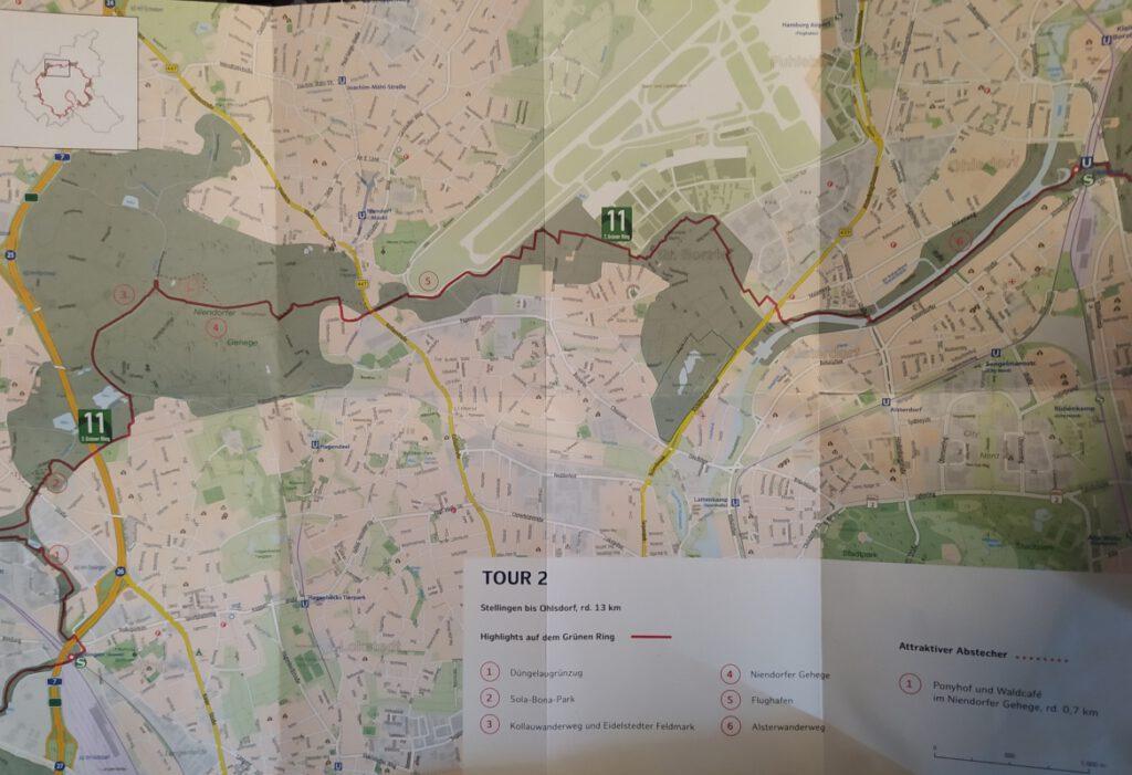 Karte Stellingen bis Ohlsdorf