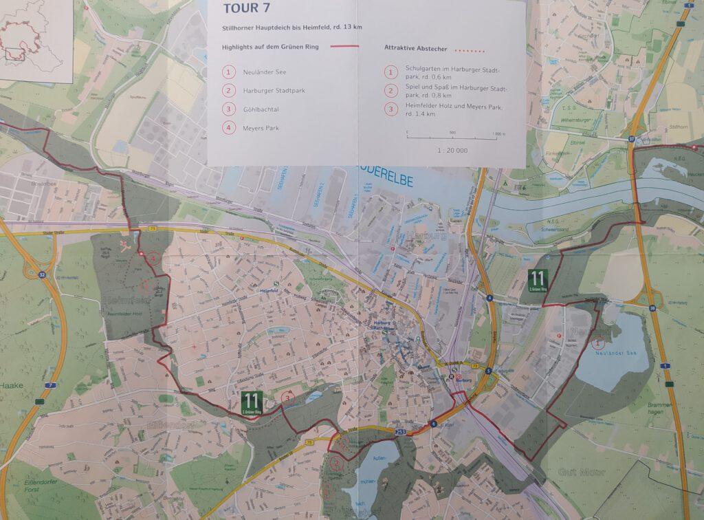 Karte Stillhorner Hauptdeich bis Heimfeld