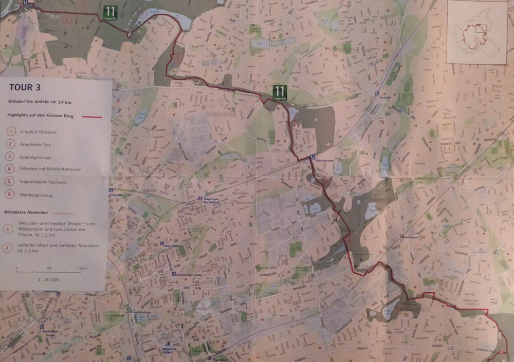 Karte Jenfeld bis Ohlsdorf